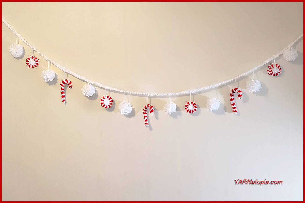 12 Days of Christmas: Peppermint Candy Garland